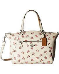 COACH Floral Bloom Prairie Satchel (SV Chalk Multi) Satchel Handbags