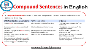 Compound Sentences In English English Study Here