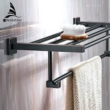 towel rail and shelf bathroom shelves wall mounted solid brass vintage style bath towel rack shelf
