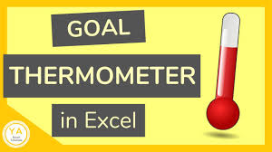 Debt Goal Chart How To Make A Goal Thermometer In Excel Tutorial