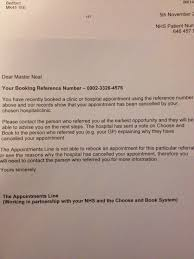 The Latest Rejection Letter From Nhs Shame Mp Not Here To Help