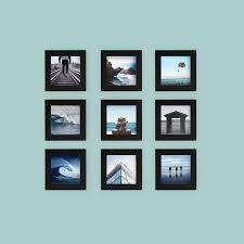 black picture frames. 9-Pack, Black, 4x4 Photo Frame Black Picture Frames