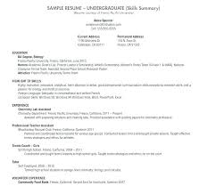 Resume Undergraduate Best Undergraduate Resume Template Doc College Application Undergraduate