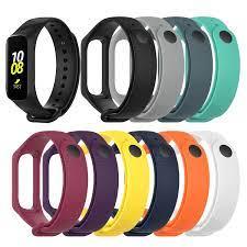 Dành cho Samsung Gear Fit E/R375 Đồng Hồ Dây Đeo Đồng Hồ Silicone Tập Thể  Hình Đồng Hồ Ban Nhạc Cổ Tay Vòng Tay Đeo Tay Thay Thế dây Đeo Smart  Accessories