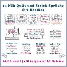 Näh Strick Und Quilt Sprüche Rock Queen Stickdateien