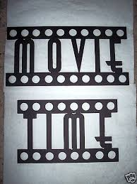 Small Picture Home Theater Decor MOVIE TIME Words Film Font Metal Wall Art