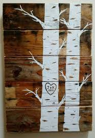 custom 16 x 12 quaking aspens with initials and date pallet art wall hanging upcycled pallet handmade wedding gift on custom wall art wood with 75 best pool signs images on pinterest pallet wood wooden signs