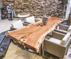 Esstisch Holz Baumstamm