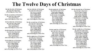 Days Of Christmas Song Pictures