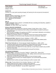 Psychology Resume Examples Fascinating Psychology Resume Templates Hvac Cover Letter Sample Hvac Cover