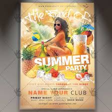 The End Of Summer Party Flyer Psd Template