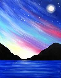 easy painting ideas landscape best acrylic paintings on beautiful canvas