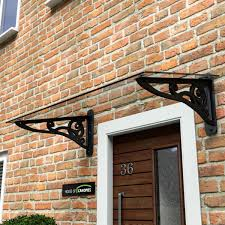 Wrought Iron effect scroll door canopy … … | door canopy | Pinte…