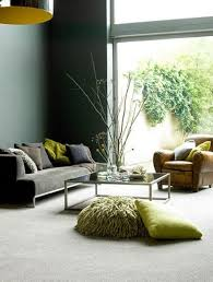 green paint with gray furniture, a few fun pops of lime