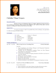 Most Recent Resume Format Perfect Resume