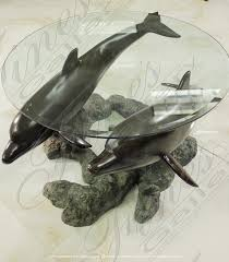 dolphins coffee table bronze beautiful designs from fine s gallery