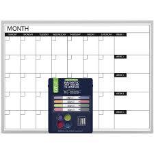 17 Inch X 23 Inch Casemate Dry Erase Calendar Board