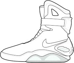 edge printable tennis shoe coloring pages jordan shoes free