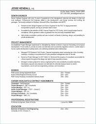 Resume Format Project Manager Lovely Fresh Resume Template Free Word
