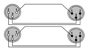 ref710 2 x xlr male 2 x xlr female wiring diagram ref710 2 x xlr male 2 x xlr female