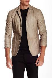 image of john varvatos collection genuine lamb leather jacket