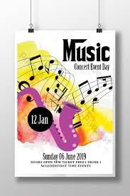 Free Music Poster Templates Water Color Music Poster Templates In Assorted Colors