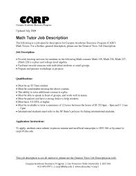 Veteran Resume Template Teacher Job Description Template Resume Example Tutor Free 99