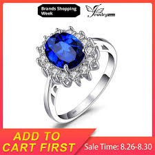 <b>JewelryPalace</b> Square 0.9ct Created Blue Sapphire Solitaire Ring ...