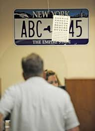 Eye Chart Used At Dmv Wary Eyes Over End Of Vision Tests Times Union