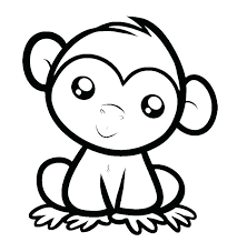 Baby Monkey Coloring Pages Staranovaljainfo