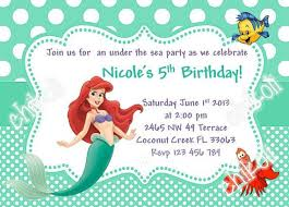 Ariel Party Invitations Little Mermaid Party Invitations Princess