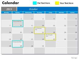 Monthly Calendar 2013 Blue Monthly Calendar 2013 Powerpoint Slides Ppt Templates