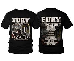 In The Shirt Fury In The Slaughterhouse Summer Tour 2017 T Shirt
