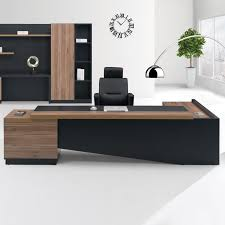 desk in office. Fashion High End Office System Furniture L Shape Manager Executive Desk With Long Cabinet In S
