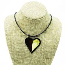 heart shape cow horn pendant necklace jpg