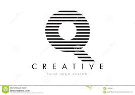 Royalty-Free Vector. Download Q Zebra Letter Logo Design With Black And White  Stripes ...