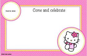invitation card hello kitty images of hello kitty invitations magnificent hello kitty party