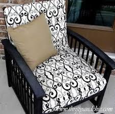diy patio furniture cushions. Re-cover A Patio Cushion Diy Furniture Cushions