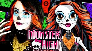 monster high skelita calaveras makeup tutorial rosaliesaysrawr you