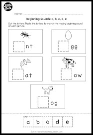 Students match letters representing the beginning sound of words to pictures. Beginning Sounds Worksheets And Activities