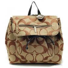 Coach Classic In Signature Medium Khaki Backpacks AOU