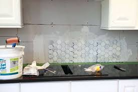 hexagon tile backsplash the hardest part about the process was the fact that the tile was hexagon tile backsplash