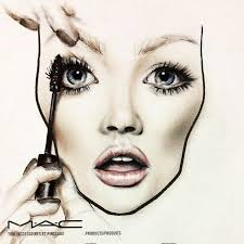drawing makeup 7 best face chart images on