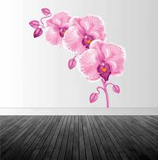 pink orchid decal orchid wall sticker floral wall decor vinyl wall decal wall sticker infinite graphics wall art orchids home decor on orchid vinyl wall art with pink orchid decal orchid wall sticker floral wall decor vinyl