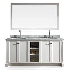 Asian Bathroom Vanity Cabinets Shop Ariel Westwood White 73 In Undermount Double Sink Asian