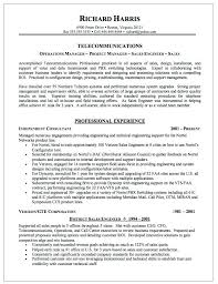 Best Ideas Of Resume Telecom Manager Tele Munications Manager Resume
