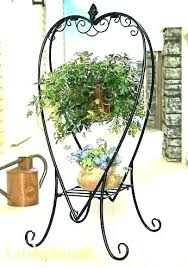 hanging plant stands outdoor artificial g plants metal plant stands planter wooden outdoor stand heart