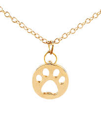 love this product gold plated dog paw pendant necklace