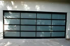 all glass garage door glass garage door with man door