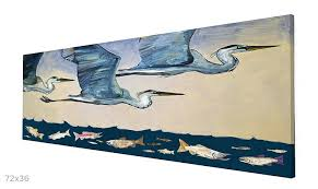 heron wall art blue herons flight at dusk wall art great blue heron metal wall art